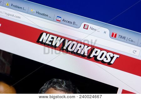 Ryazan, Russia - May 08, 2018: New York Post Website On The Display Of Pc, Url - Nypost.com
