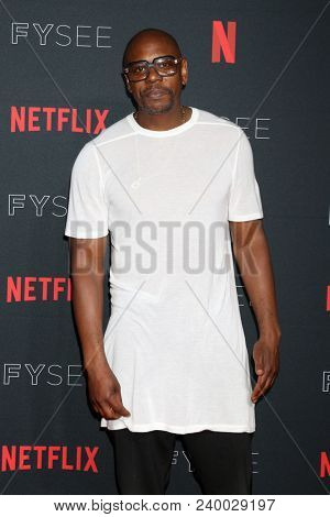 LOS ANGELES - MAY 6:  Dave Chappelle at the Netflix FYSEE Kick-Off Event at Raleigh Studios on May 6, 2018 in Los Angeles, CA