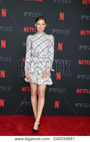 LOS ANGELES - MAY 6:  Mina Sundwall at the Netflix FYSEE Kick-Off Event at Raleigh Studios on May 6, 2018 in Los Angeles, CA