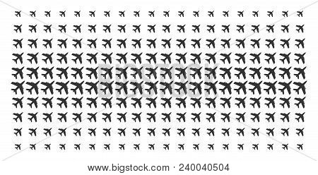 Jet Plane Icon Halftone Pattern, Constructed For Backgrounds, Covers, Templates And Abstraction Conc