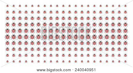 Ladybird Bug Icon Halftone Pattern, Designed For Backgrounds, Covers, Templates And Abstract Effects