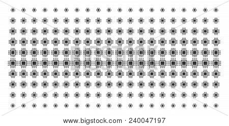 Processor Icon Halftone Pattern, Constructed For Backgrounds, Covers, Templates And Abstract Effects