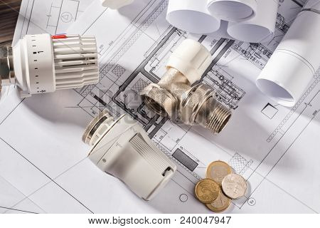 Thermostatic Head Valve For Radiator Heater Coin Money Notepad For Entries Heating Project Boiler Ro