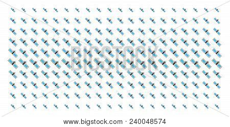 Satellite Icon Halftone Pattern, Constructed For Backgrounds, Covers, Templates And Abstract Composi