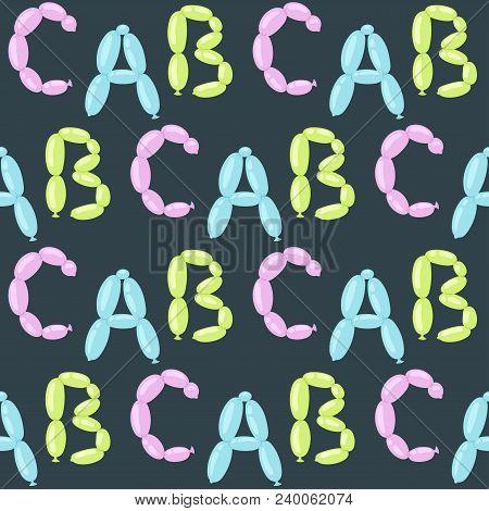 English Balloon Colorful Alphabet Vector Holidays Party Abc Education Ozone Type Greeting Helium Fes
