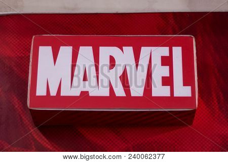 Dumaguete, Philippines - 08 March 2018: - Marvel Shop And Brand Label In Shopping Mall. Well-known W