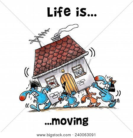 All The Family Members Are Moving House