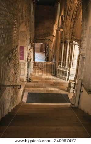 Paris, France - July 08, 2017. Hall Of The Gothic Cluny Museum, In Paris. Known As The