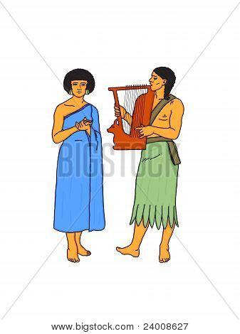 Egyptian Musicians.