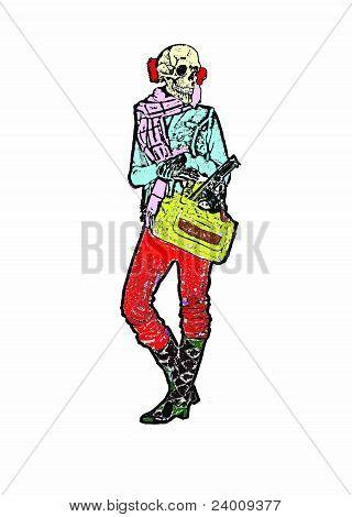 Death with handbag
