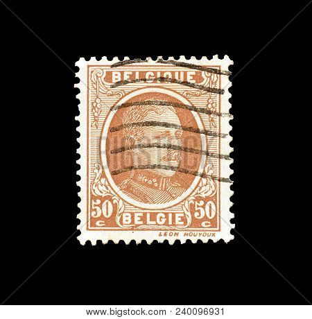 Belgium - Circa 1925 : Cancelled Postage Stamp Printed By Belgium, That Shows King Albert.