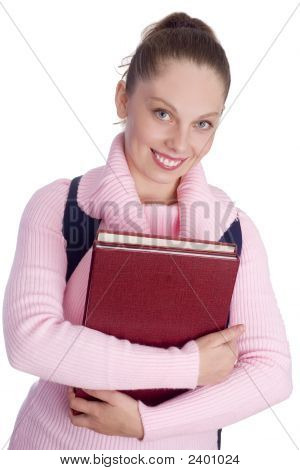 Young Woman Going To College