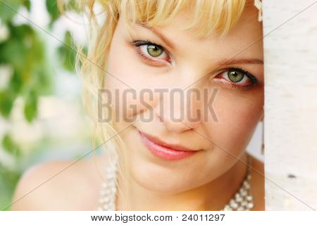 Tender Look Of The Beautiful Young Women
