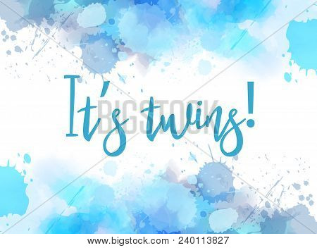 It's Twins Reveal Watercolor Abstract Background