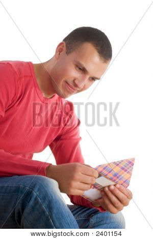 Young Man Receiving Love Letter