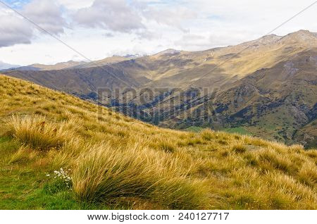 The Crown Range Between Queenstown And Wanaka Photographed From The Road Over The Range, Known As Th