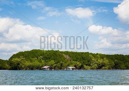 Huts On Pak Nam River