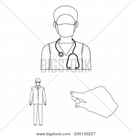 Medicine And Treatment Outline Icons In Set Collection For Design.hospital And Equipment Vector Symb