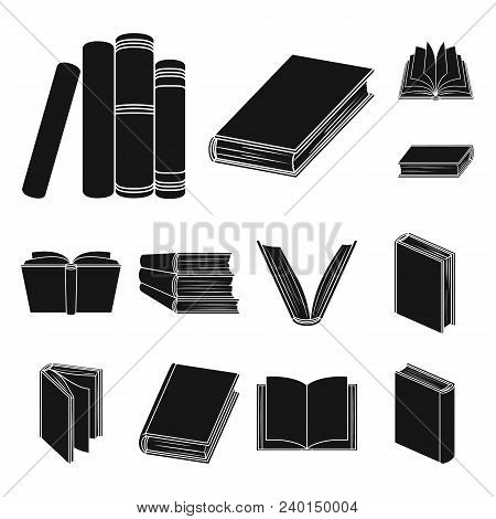 Book In The Binding Black Icons In Set Collection For Design. Printed Products Vector Symbol Stock