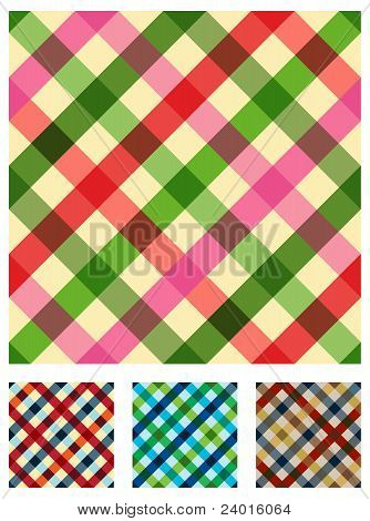 Multicolored Tablecloth Texture Pattern