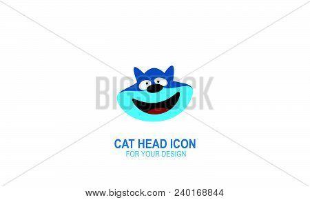 Cat Head Icon, Cat Logo Design, Vector Icons.