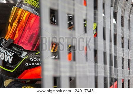 May 04, 2018 - Dover, Delaware, USA: Martin Truex, Jr (78) gets ready to practice for the AAA 400 Drive for Autism at Dover International Speedway in Dover, Delaware.
