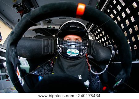 May 04, 2018 - Dover, Delaware, USA: Ryan Truex (11) straps into his car to practice for the OneMain Financial 200 at Dover International Speedway in Dover, Delaware.
