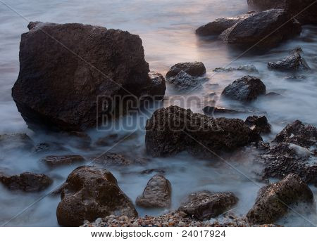 Calming Rocky Sea Coast