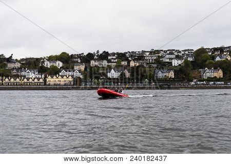 May 7th, 2018, Cobh, County Cork, Ireland - A Cork Harbour Boat Hire Boat, A Company For Hiring Out
