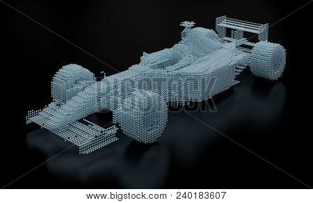 Formula One Made With Spheres. Part Of A Series.