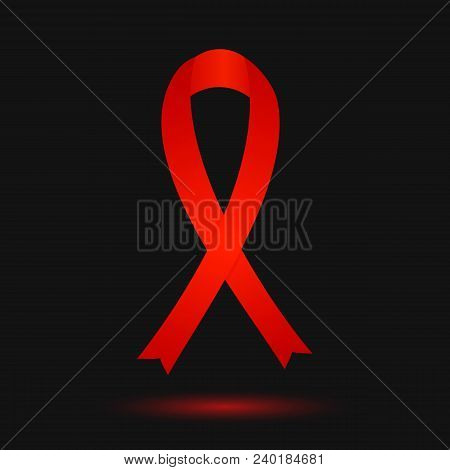 World Remembrance Day Of Aids Victims. Red Ribbon. Aids Awareness Symbol. Medical Concept. World Aid