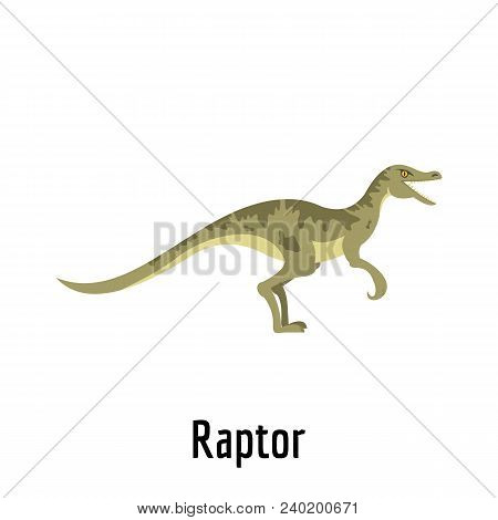Raptor icon. Flat illustration of raptor vector icon for web. poster