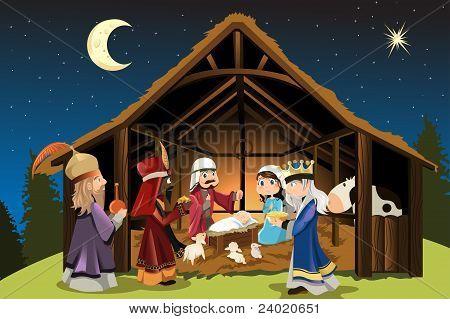 Jesus Christ And Three Wise Men