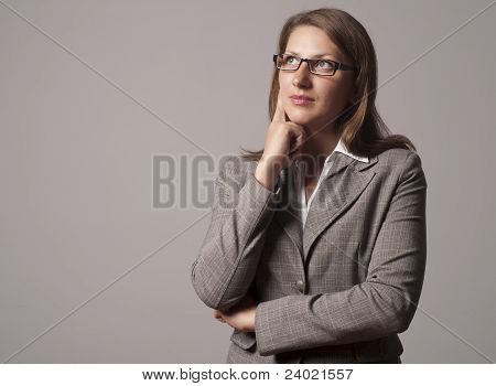 Portrait Of Young Business Woman In The Glasses