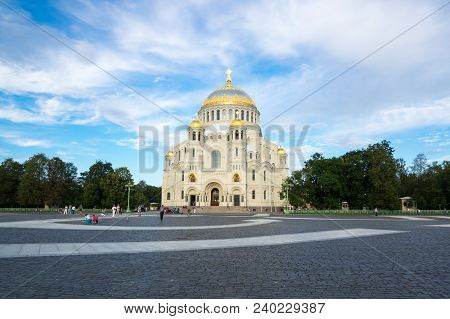 View Of Naval Cathedral In Kronshtadt, Saint-petersburg, Russia