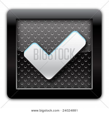 Validation metal icon