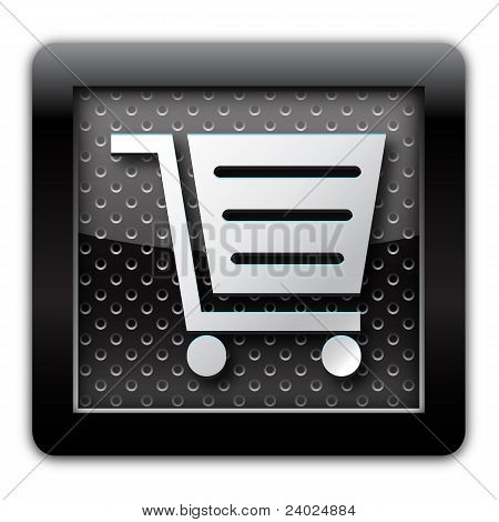 E-Commerce-Metall-Symbol