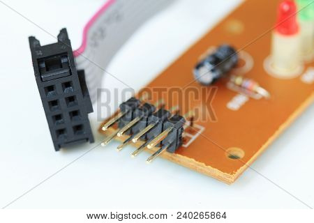 Pin Type Terminals On Printed Circuit Board