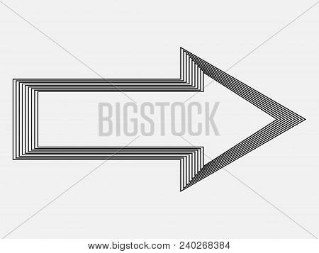 Vector Arrow Background . Arrow Icon . Arrow Logo. Arrow Design .