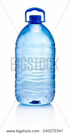 Big Plastic Bottle Of Drinking Water Isolated On White Background