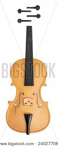 Violin  Or Viola Parts Isolated On White Background
