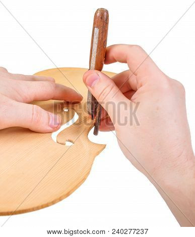 Luthier Showing The Usage Of The Purfling-cutter