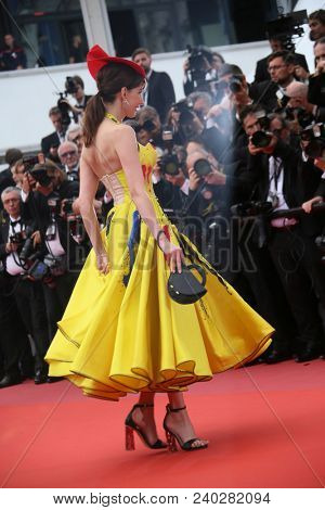 Frederique Bel attends the screening of 'Sorry Angel' during the 71st annual Cannes Film Festival at Palais des Festivals on May 10, 2018 in Cannes, France.