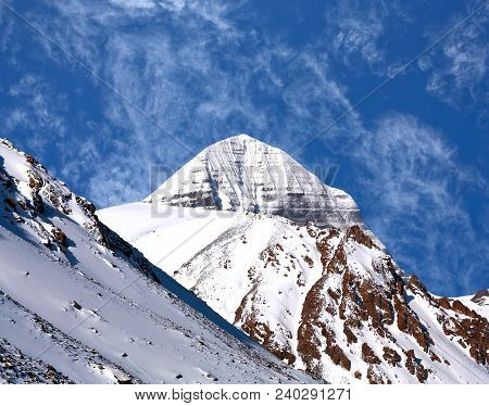 Sacred Mount Kailash (elevation 6638 M), Which Are Part Of The Transhimalaya In Tibet. It Is Conside