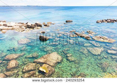 Gallipoli, Apulia, Italy - Impressive Water Colors At The Coastline