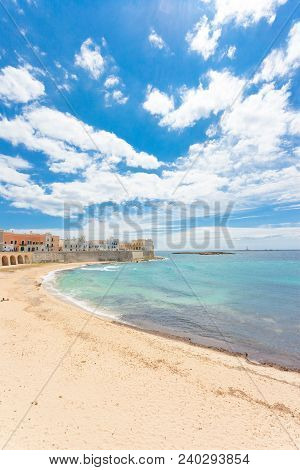Gallipoli, Apulia, Italy - Impressive Calmness At The Lovely Beach Of Gallipoli