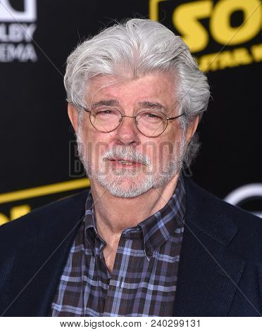 LOS ANGELES - MAY 10:  George Lucas arrives to the