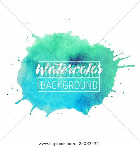 Watercolor Blob Vector Text Box Background. Isolated Watercolor Blob Vector For Sale, Web, Banner. W
