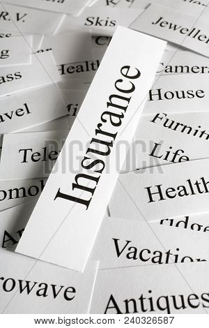A Conceptual Look At Insurance And The Things You Need Cover For.