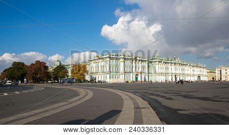 Saint- Petersburg, Russia - October 03, 2016: The Winter Palace In Saint-petersburg, Russia, Was The